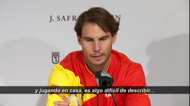 """Nadal, """"superhappy"""" tras el triunfo de España en la Davis"""
