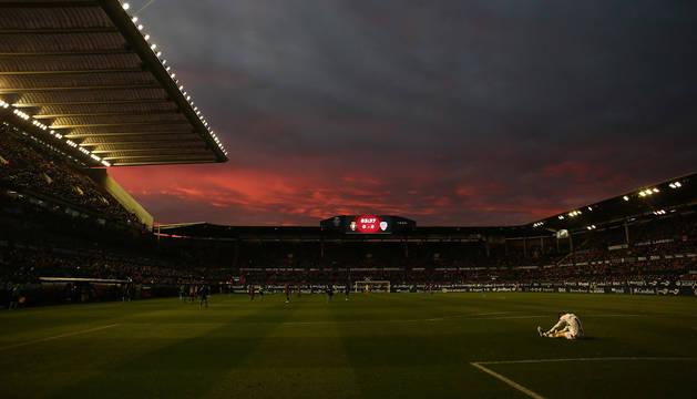 Panorámica de El Sadar en un partido de la temporada pasada.