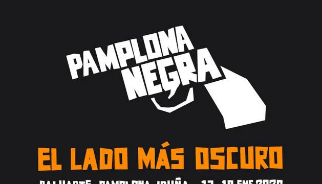 Cartel de la sexta edición de Pamplona Negra.