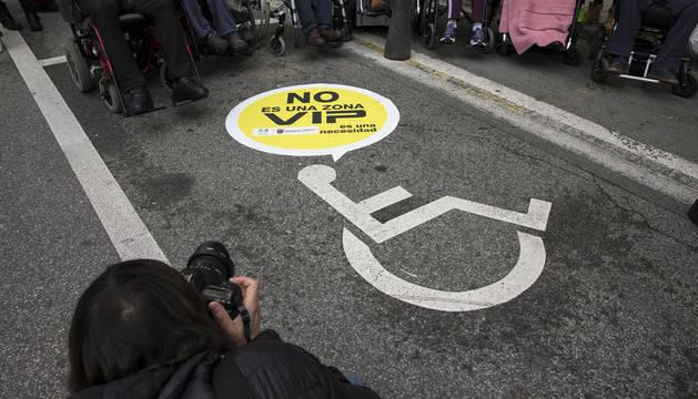 Una campaña anterior sobre el uso de las plazas de aparcamiento para personas con discapacidad.