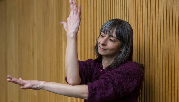 Foto de la coreógrafa y bailarina chilena María Siebald.