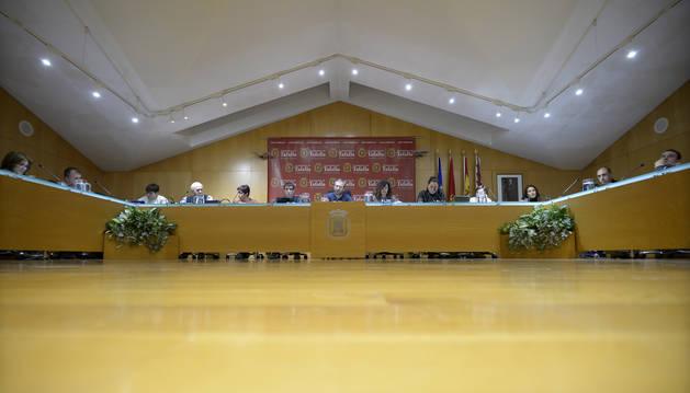 Fotografía del pleno ordinario celebrado el martes en el ayuntamiento de Tafalla.