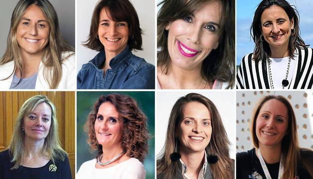 De izda. a dcha. y de arriba a abajo: Tesa Díaz Faes, Luisa Alli, María Eizaguirre, María Andrés Marín, Clara Martínez de Careaga, Gabriela Uriarte, Ana Lorenzo y Biola María Javierre,
