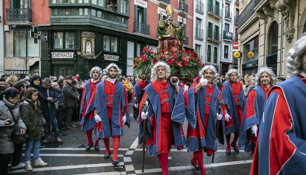 Procesión de San Saturnino en Pamplona