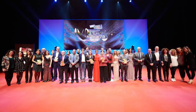 Baluarte se vistió de gala para la entrega de los IV Premios Navarra Televisión