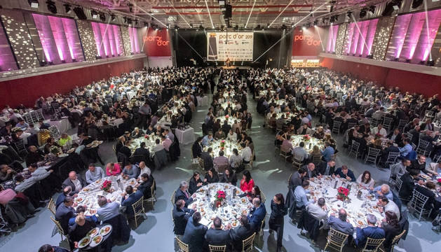 Imagen de la celebración de la gala de los Porc D'Or en Huesca.