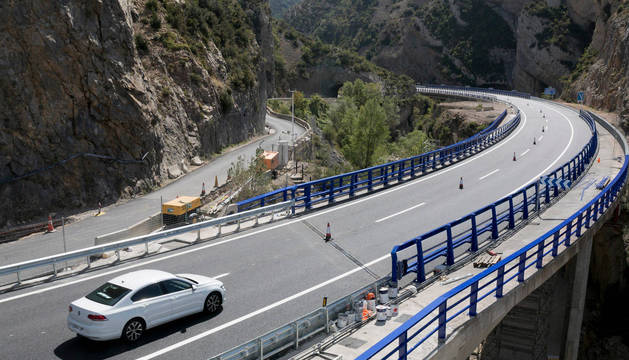 Foto de la autovía A-23 a su paso por el puerto de Monrepós, un tramo abierto este año.