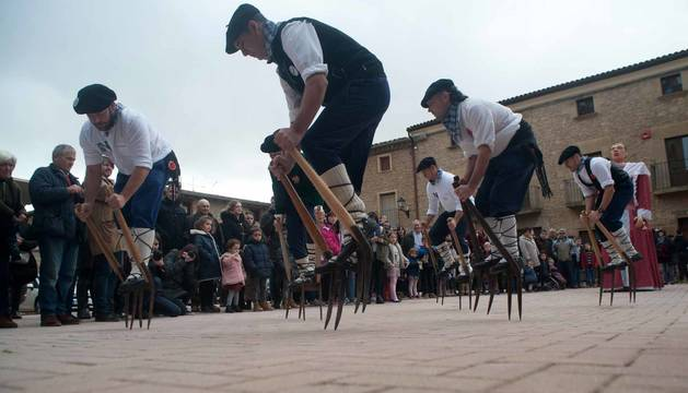 Fotos de la carrera de layas en Artajona