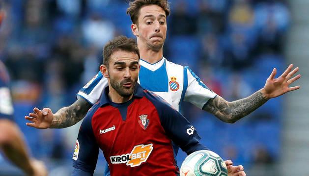 Adrián López y Fernando Calero, en el partido de este domingo.