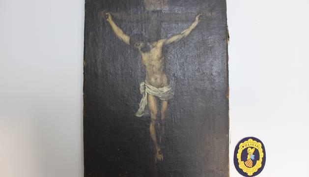 Imagen del falso cuadro de Murillo.
