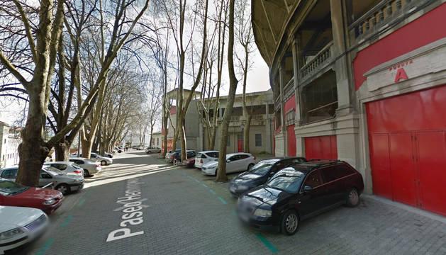 Foto de las inmediaciones de la Plaza de Toros de Pamplona.