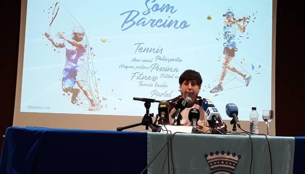 Foto de la tenista española Carla Suárez, en el anuncio de su retirada al final de 2020.