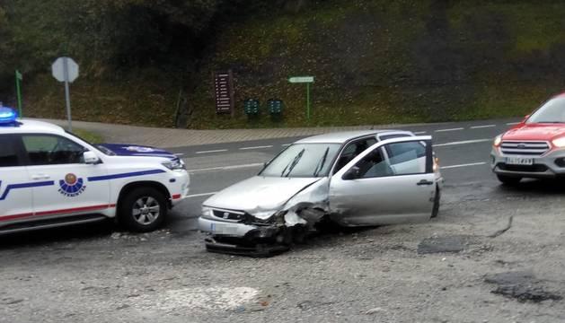 Foto del estado en el que quedó el vehículo tras la persecución.
