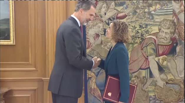 El Rey recibe en Zarzuela a las presidentas del Congreso y del Senado