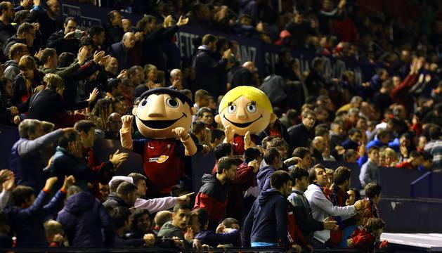 La afición de Osasuna en El Sadar el pasado 5 de octubre en el partido ante el Villarreal.