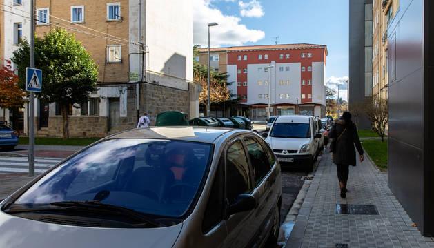 Foto de la calle Lakuntza, en la Txantrea, donde ocurrieron los hechos.
