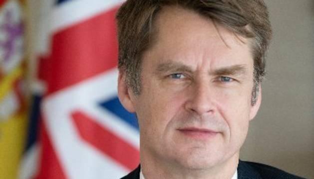 El nuevo embajador de Reino Unido en España, Hugh Elliott.