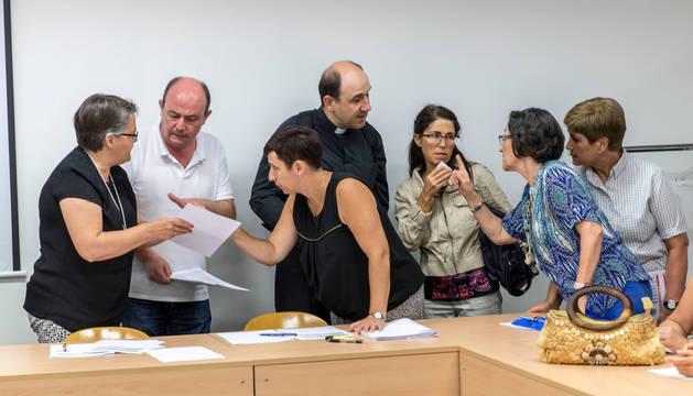 Un acto anterior de elección de destino para los profesores de religión celebrado en el departamento de Educación del Gobierno foral.