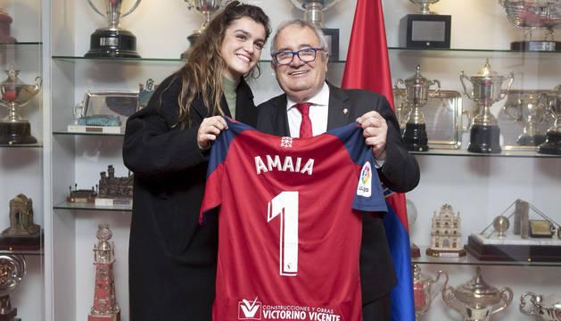 Amaia Romero vuelve a demostrar su afición por Osasuna