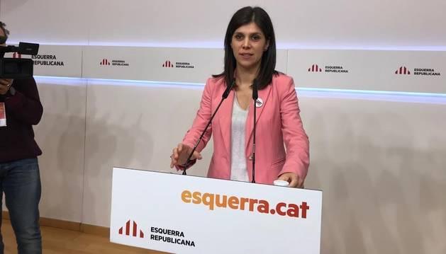 Foto de la portavoz y secretaria general adjunta de ERC, Marta Vilalta.