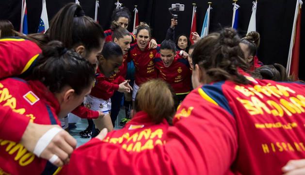 Foto de l selección española femenina de balonmano 'Guerreras' en el Mundial de Japón.