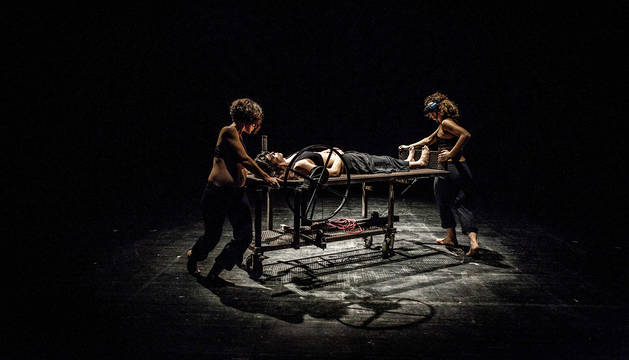 La compañía ATX Teatroa durante una función anterior.