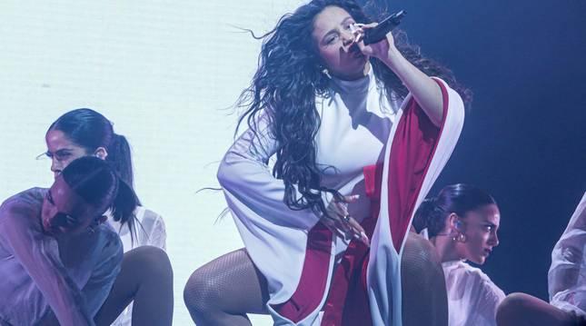 La cantante abarrotó el feudo madrileño este martes, 10 de diciembre, con la asistencia de más de 16.000 espectadores.