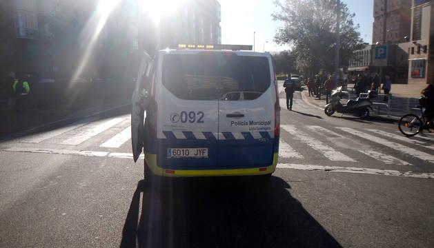 Dos heridos leves en un atropello junto a los cines Golem en Pamplona