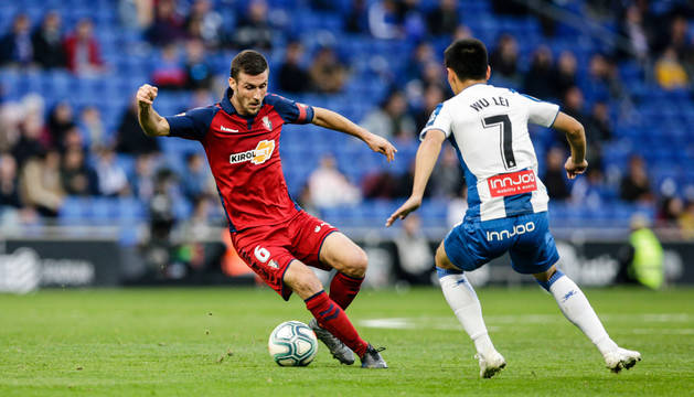 Oier Sanjurjo, en el partido contra el Espanyol.
