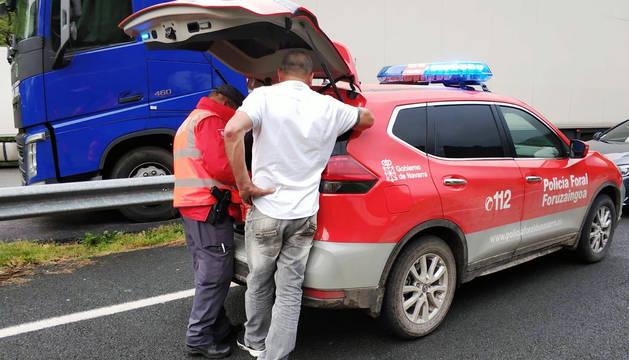 Foto de un control de camionero en Legasa.