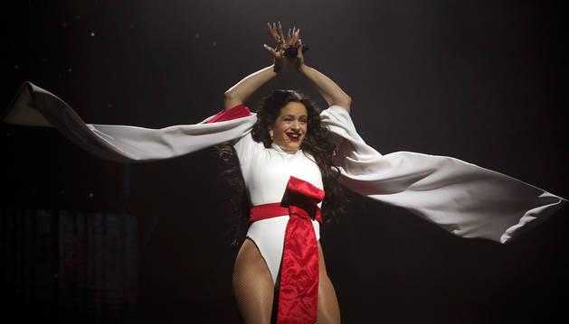 Un momento del concierto de Rosalía en el Wizink Center madrileño.