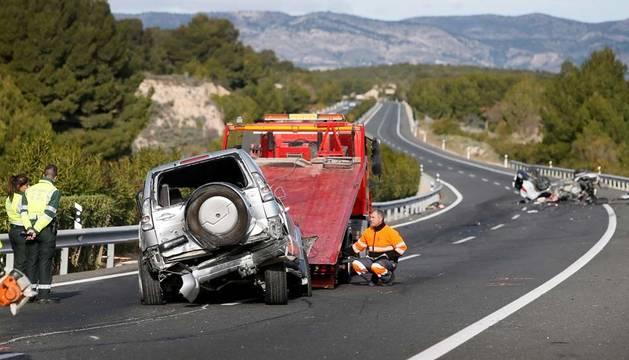 Dos muertos en un accidente provocado por un coche que circulaba en sentido contrario