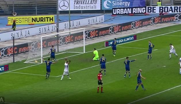 El golazo de Berenguer ante el Hellas Verona