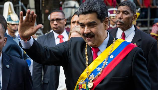 foto de El presidente de Venezuela Nicolás Maduro, en un acto para conmemorar los 20 años de la Constitución de la República Bolivariana