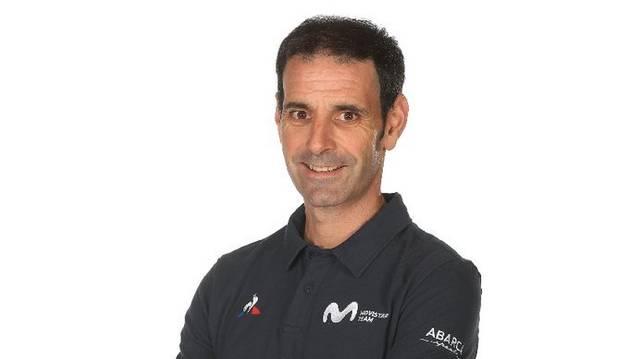 foto de Patxi Vila, responsable de Rendimiento del equipo ciclista Movistar