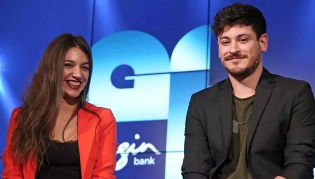 foto de Ana Guerra y Luis Cepeda, en la presentación de la gira