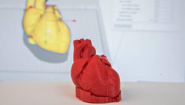 Una de las piezas impresas de una radiología de un corazón.
