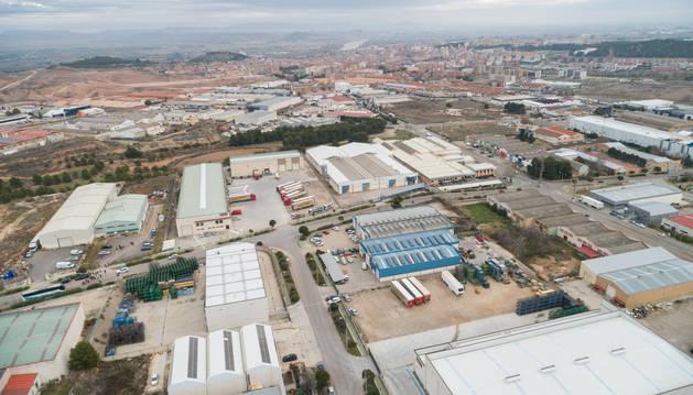 Foto aérea del polígono industrial municipal de Tudela.