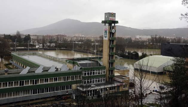 Las instalaciones de Amaya quedaron anegadas por el agua tras las últimas inundaciones.