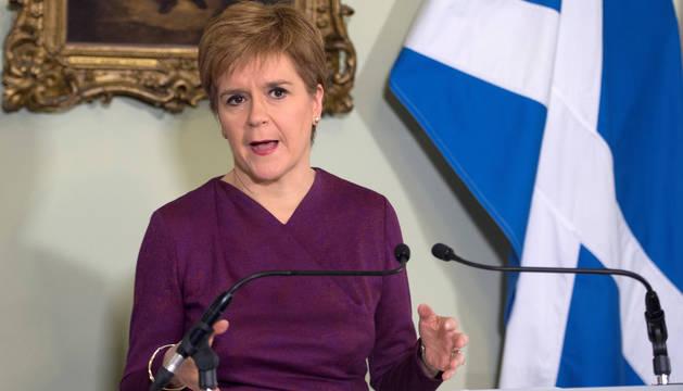 La ministra principal de Escocia, la nacionalista Nicola Sturgeon.