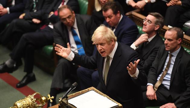 Imagen de Boris Johnson durante un debate en la Cámara de los Comunes.