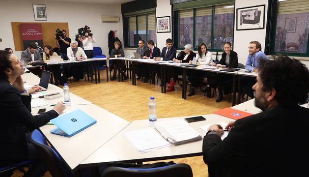 Imagen de la reunión entre representantes de la AFE y de la Asociación de Clubes de Fútbol Femenino