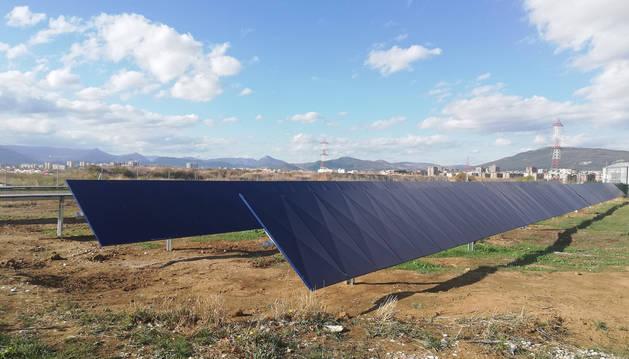 Foto de la instalación piloto del nuevo sistema de seguimiento en Cordovilla.