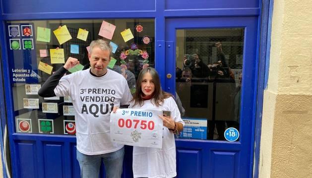 El tercer premio, el 00750, obsequia con 5 millones de euros a Pamplona