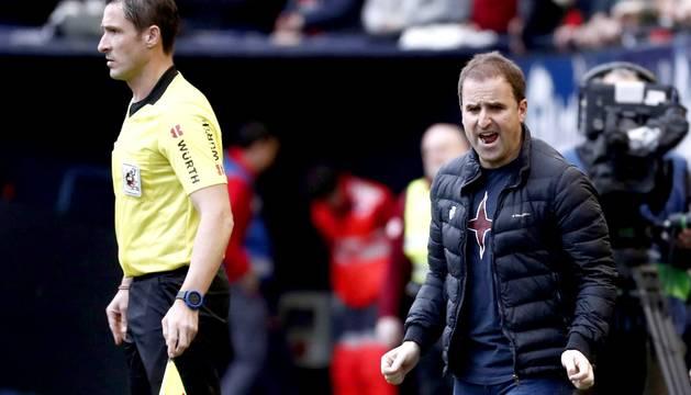 Jagoba Arrasate ha sido expulsado en el partido Osasuna-Real Sociedad.