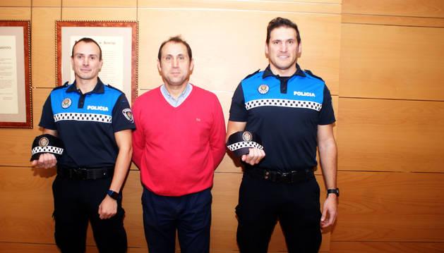 De izda. a dcha., José Blas Jiménez, Alberto Añón y Óscar Mateo.