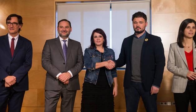Reunión entre PSOE y ERC el pasado 28 de noviembre.