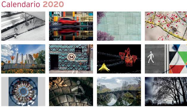 Calendario municipal de Pamplona 2020.