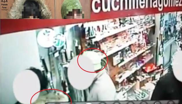 Imagen del vídeo captada por las cámaras de la cuchillería.