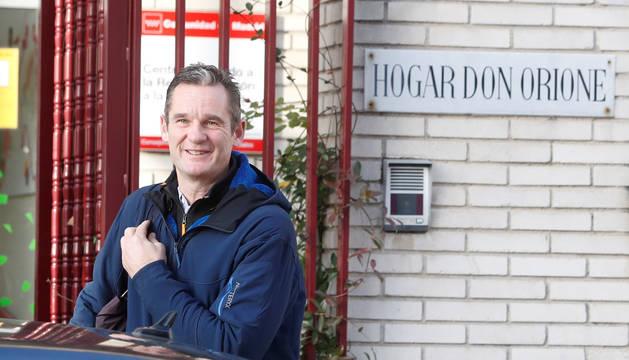 Iñaki Urdangarin a su llegada este martes al Hogar Don Orione en Pozuelo de Alarcón.